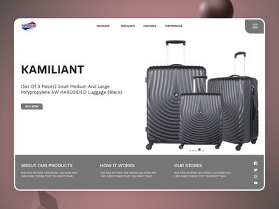 Travelling bags typography website new designs branding minimal web ux ui design