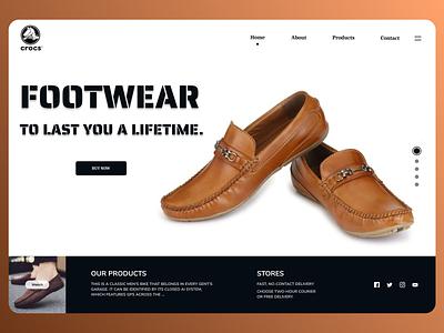 Foot Ware web Design minimal typography website new designs branding web ux ui design