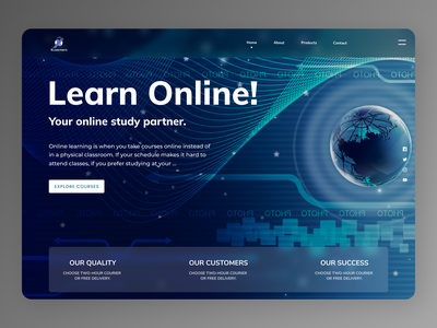 Online Education flat new website designs branding design minimal web ux ui