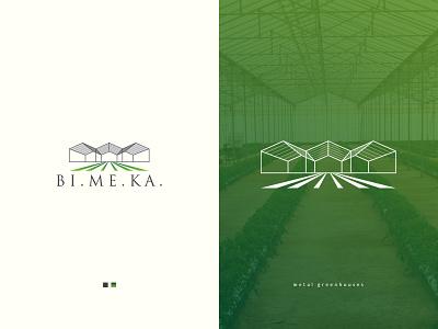 Metal Green houses logo greenhouse logodesigners logodesigner illustrator logo icon graphic design flat design branding