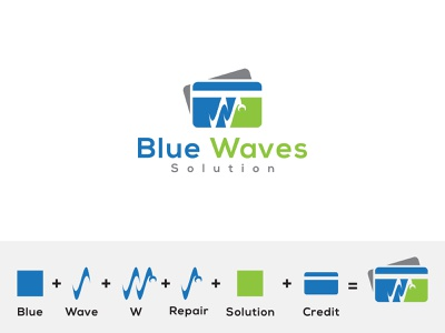 Credit Card Repair Logo logodesigner symbol illustrator logo icon graphic design flat design branding repair creditcard credit