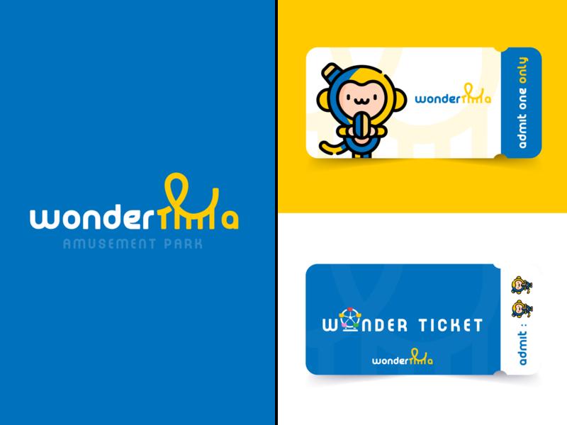 Wonderla - Amusement Park Rebranding ticket design logo identity design amusement park
