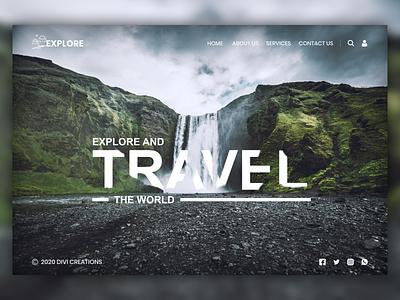 Travel Website UI Design Mockup graphic design typography illustraion ui website design web ui