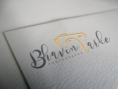 Bhavin Varke Photography Logo Design Mockup2 graphic design icon vector design illustration branding logo