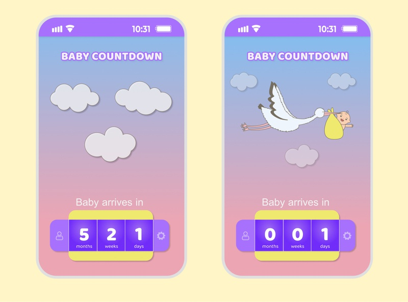 Countdown Timer - Daily UI -  Day 14 vector animation design app ui ux illustration dailyui @dailyui