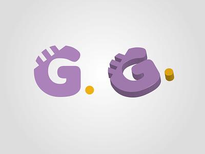 Grow Me Logo en 3D graphic design typography branding logo vector ui ux illustration design