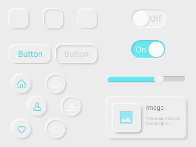 Neumorphism UI Kit mobile ui ux ui  ux design ui kit figmadesign figma icon illustration ui design