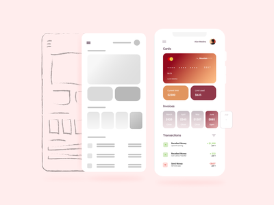 Bank graphic design ui kit app mobile figmadesign figma logo vector ui design