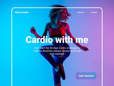 Landing page - Cardio landing page web photo typography branding figma ui design
