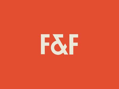F&F Rejected custom orange typography logo ff initials ampersand identity branding