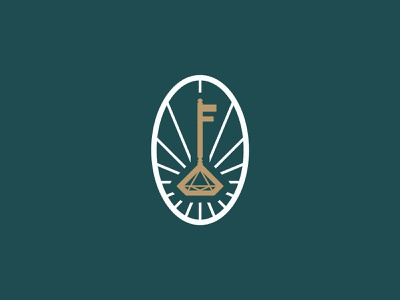 F&F Rejected Part 2 light light rays symbol details oval rays gold diamond key branding identity logo
