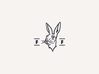 Fortune & Favour texture grit rabbit hare illustration hand drawn logo identity branding favour favor fortune luck animal heritage