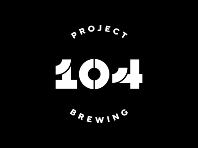 Project 104 branding project lettering number address hops microbrewery craft beer brewing beer homebrewing homebrew
