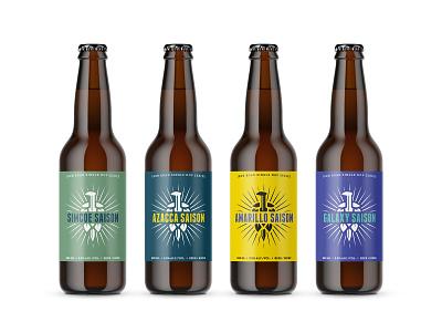 Iron Road Brewing — Single Hop Series beer bottle saison series hops single hop british columbia kamloops craft brewery brewing iron road