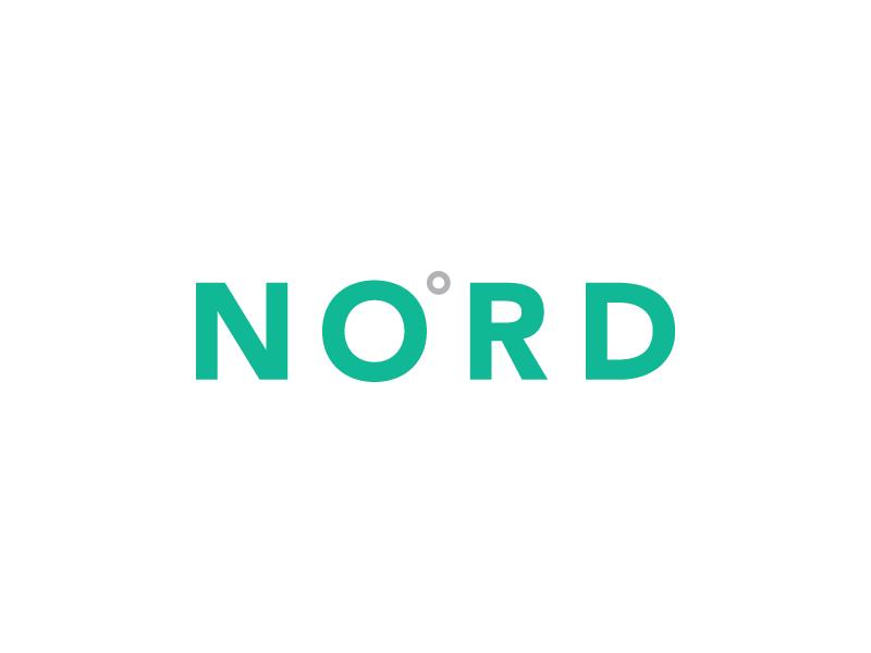 NORD logo identity branding nord north compass zero degrees scandinavian beard oil