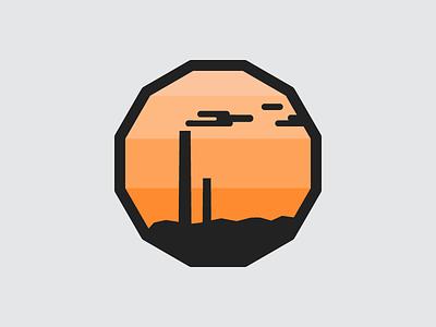 Sudbury Skyline sticker superstack smokestack mining nickel big nickel stickermule sudbury