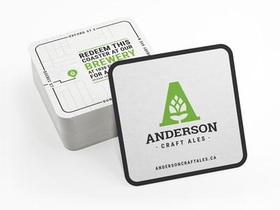 Anderon Craft Ales Coasters