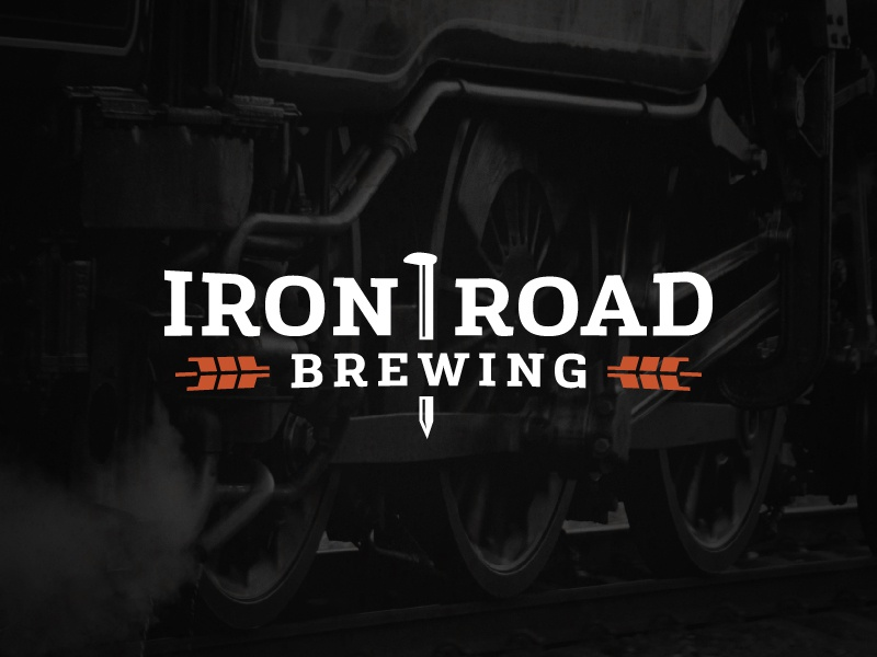Iron Road Brewing train railway beer craft beer canada brewery grain logo wheat branding identity