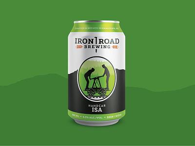 Iron Road Brewing - Handcar ISA british columbia kamloops handcar can packaging branding craft beer iron road locomotive train brewery