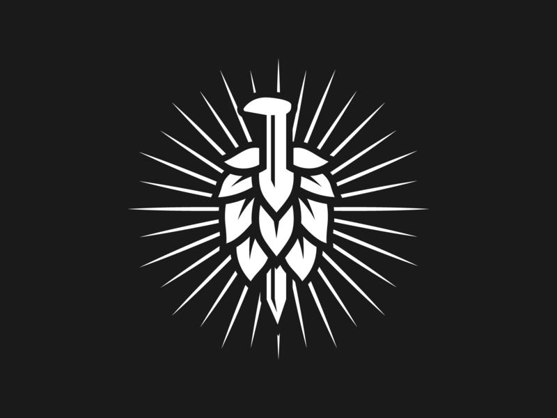 Iron Road Brewing - Hop/Spike minimal illustration spike hop iron road craft beer kamloops brewery