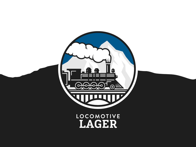 Locomotive Lager illustration lager train locomotive craft beer british columbia brewery branding