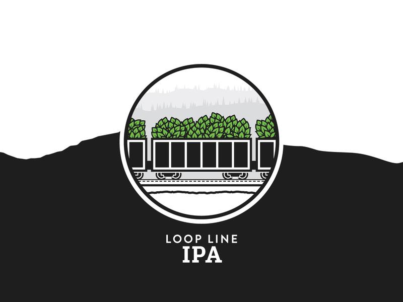 Loop Line IPA ipa illustration railway train locomotive craft beer british columbia brewery branding