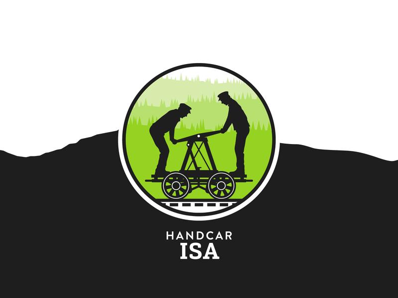 Handcar ISA handcar illustration railway train locomotive craft beer british columbia brewery branding