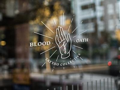 Blood Oath Tattoo Collective Concept blood collective cut flash dagger ink linework oath tattoo tattoo logo tattoo shop tattoo studio traditional