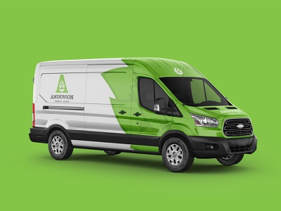 Anderson Craft Ales Van Wrap hops delivery vehicle van wrap van craft beer brewery logo identity branding brewing