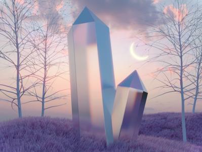 Lucid Dream surrealism surreal landscape design render dailyrender blender3d 3d art 3d