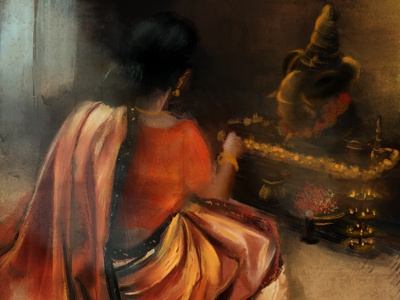 Digital Painting | Ganesh Chaturthi illustration digital painting digital artist digital art