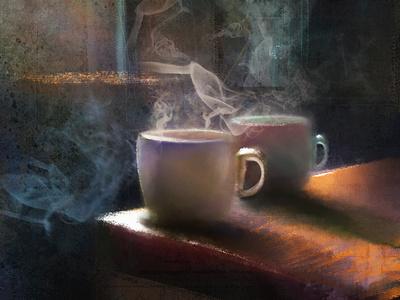 Digital Painting | Coffee design digital painting digital artist digital art