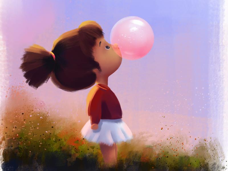 Character Exploration | Bubble illustration digital painting digital artist digital art childrens book children book illustration cartoon character design cartoon illustration character art
