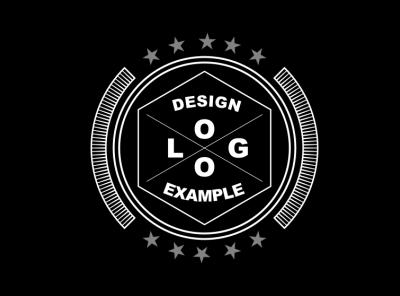 Logo Example 2 flat icon logo illustration vector