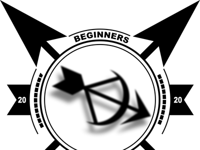 Archery Logo Example illustration vector flat inkscape logo