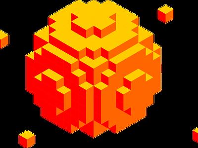 3D Block Graphic 8-bit 8bit cubes cube blocks block design isometric art isometric isometric design inkscape 3d