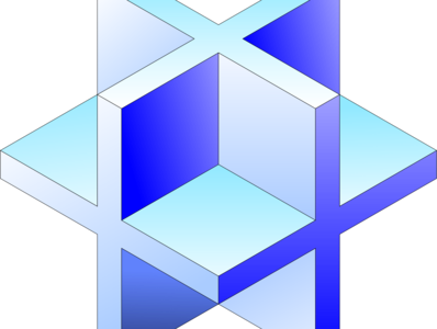 3D Cross Cube isometric art grid axonometric isometric design isometric design 3d inkscape