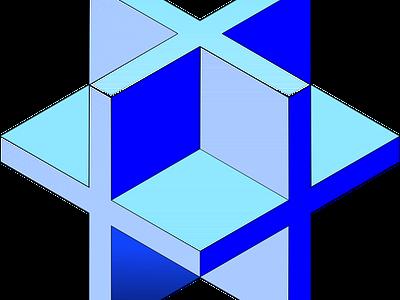 3D Cross Cube isometric art grid axonometric isometric design isometric design 3d inkscape