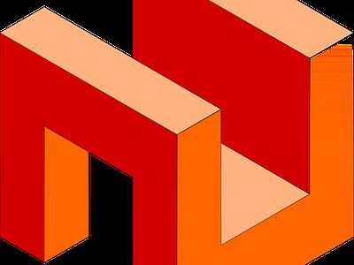 3D Abstract Cube design axonometric isometric art isometric design isometric vector inkscape 3d