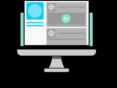 Social News Feed Graphic blur icon social media media social newsfeed flat design vector inkscape