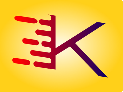 Liquid Letter Graphic gradients gradient logo difference union path paths letter inkscape