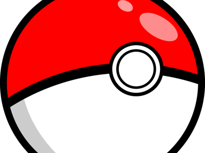 Vector Pokeball difference paths opacity elipse circles flat pokeball pokemon inkscape