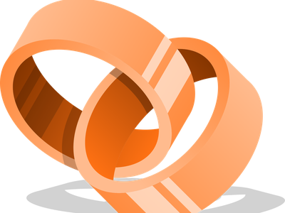 Interlocking Rings union intersection difference paths path elipses elipse circles circle rings inkscape
