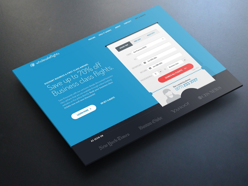 Landing Page webdesign web design website landing page clean flat blue typography web responsive