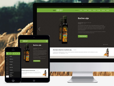 Organic products of Croatia web design responsive
