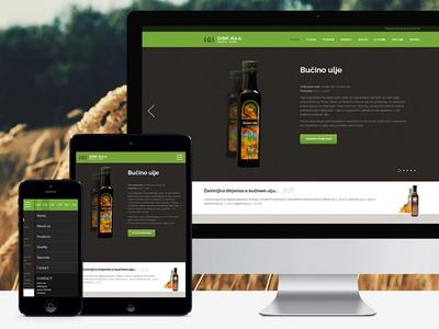 Organic products of Croatia web design responsive