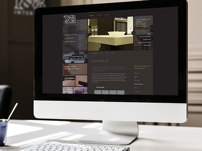 T&B interior - final design web design homepage responsive photoshop clean simple website dark
