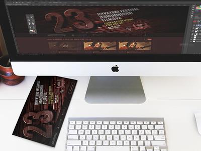 Croatian One-minute Film Festival simple dark responsive flat website web design clean