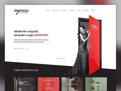 Ingresso homepage concept ux ui web design webdesign