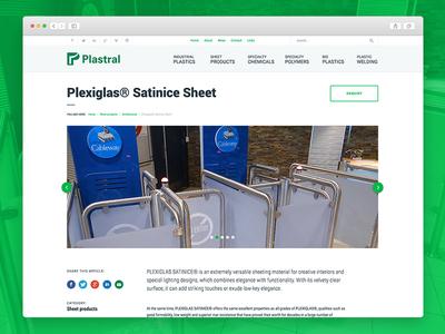 Plastral - Desktop version ux ui webdesign web design